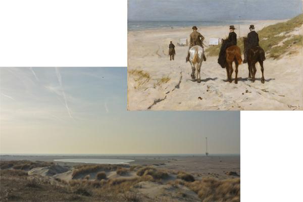 Zandmotor kust Ter Heijde en Morgenrit langs het strand door Anton Mauve