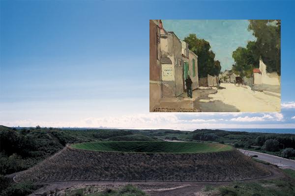 Hemel Gewelf van James Turrell en Huis van Millet te Barbizon door Jan Hendrik Weissenbruch
