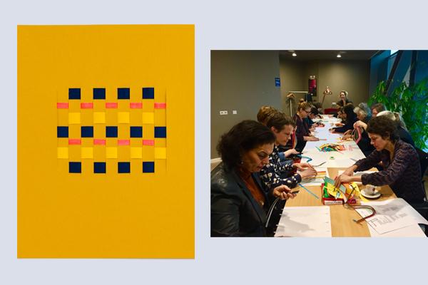 Docenten van de HKU Hogeschool voor de Kunsten Utrecht ervaren door het maken hoe ze antwoorden moeten geven op belangrijke crafts vragen in het hogere onderwijs kunstacademie. Deze maak sessie was georganiseerd door de Crafts Council Nederland CCNL voor de Onderwijsdag 2019